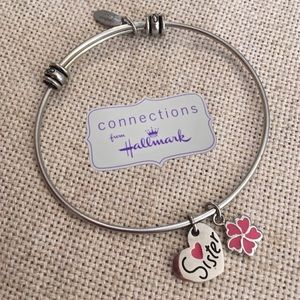 Hallmark Connections 💕Sister Bracelet Wire Charms